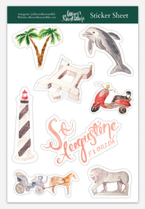 Sticker Sheet - Saint Augustine