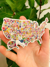 Load image into Gallery viewer, Floral USA Sticker