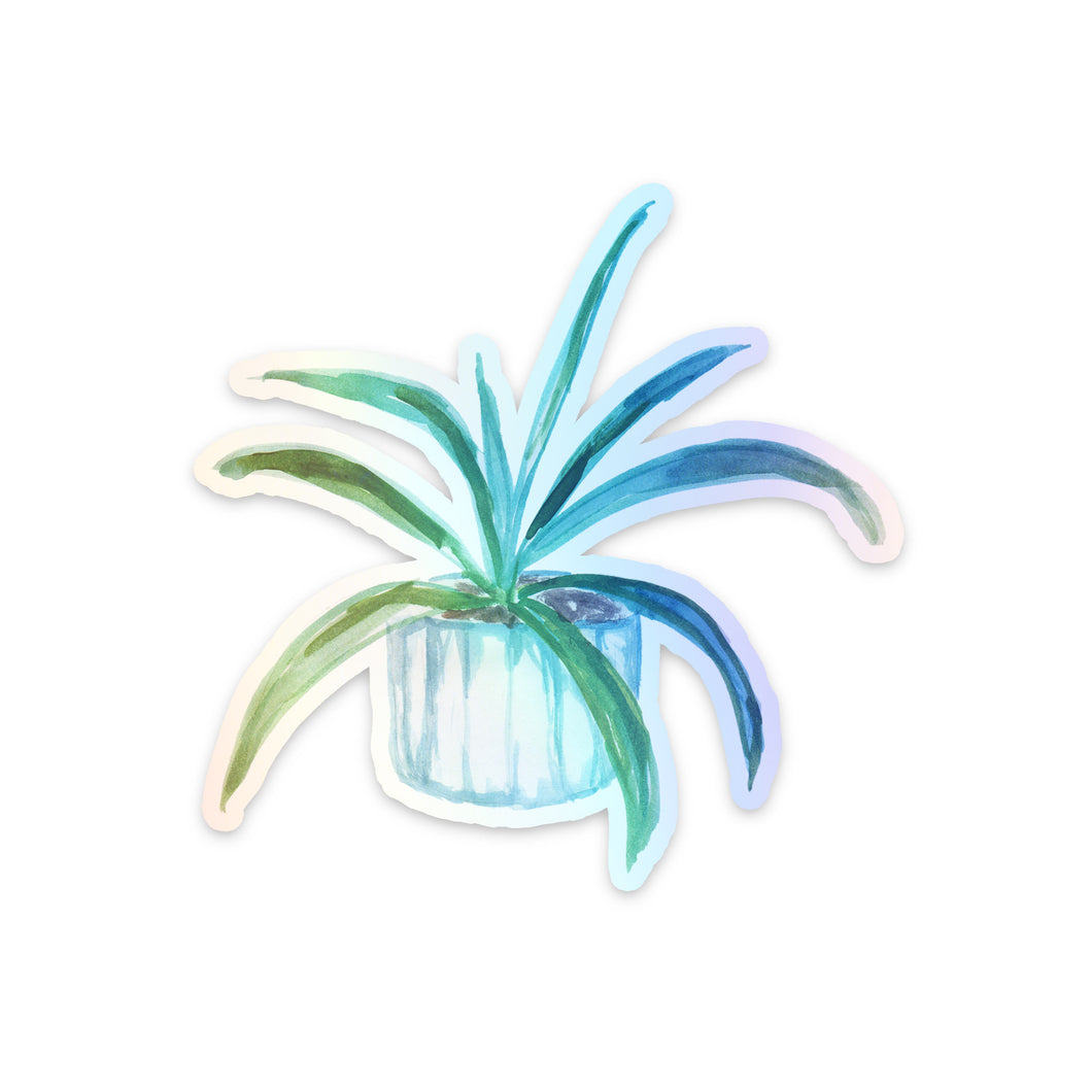 Aloe Plant Holographic Sticker