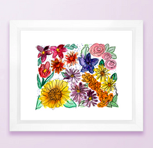 Load image into Gallery viewer, Kansas Floral State Print