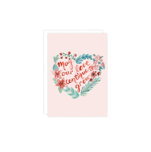 Love Grow Heart Wreath Valentine's Card