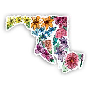 Floral State Sticker - Maryland