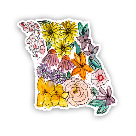 Floral State Sticker - Missouri