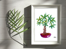 Load image into Gallery viewer, Watercolor Plant Print - Money Tree
