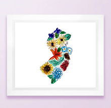 Load image into Gallery viewer, New Jersey Floral State Print