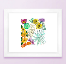 Load image into Gallery viewer, Floral State Map Print - New Mexico