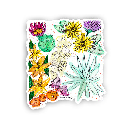 Floral State Sticker - New Mexico