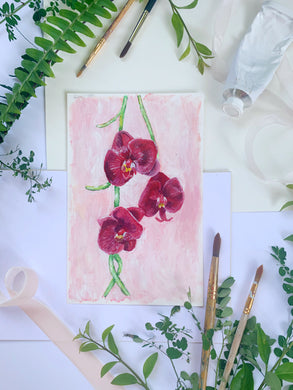 Family Floral Orchid Original Painting - Norma