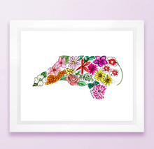 Load image into Gallery viewer, North Carolina Floral State Print