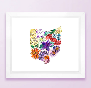 Ohio Floral State Print