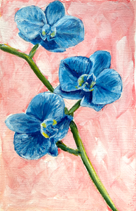 Family Floral Orchid Original Painting - Ophelia