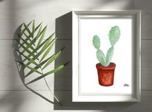 Load image into Gallery viewer, Watercolor Plant Print - Paddle Cactus