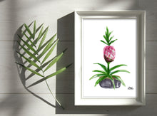 Load image into Gallery viewer, Watercolor Plant Print - Pink Pineapple