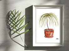 Load image into Gallery viewer, Watercolor Plant Print - Ponytail Palm