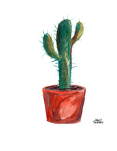Load image into Gallery viewer, Watercolor Plant Print - Saguaro