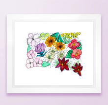 Load image into Gallery viewer, Floral State Map Print - South Dakota