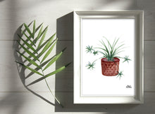 Load image into Gallery viewer, Watercolor Plant Print - Spider Plant