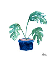 Load image into Gallery viewer, Watercolor Plant Print - Split-Leaf Philodendron