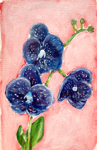 Family Floral Orchid Original Painting - Sue