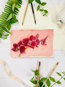 Family Floral Orchid Original Painting - Tish