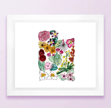 Load image into Gallery viewer, Floral State Map Print - Utah