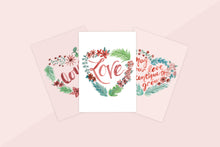Load image into Gallery viewer, White Heart Love Wreath Valentine's Card