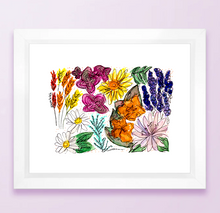 Load image into Gallery viewer, Wyoming Floral State Print