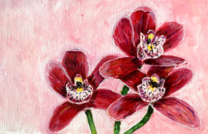 Family Floral Orchid Original Painting - Yolanda