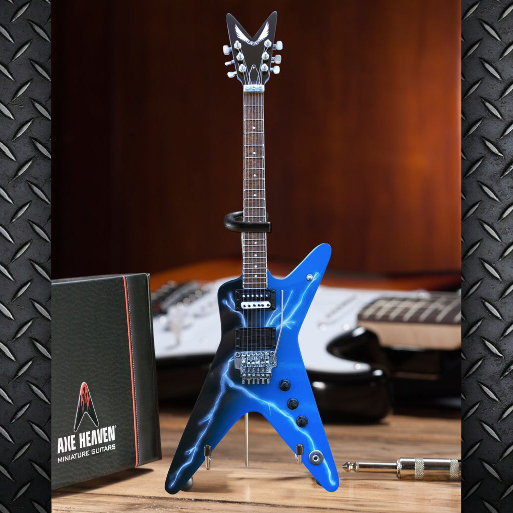 Licensed Dean Dimebag Darrell FROM HELL Lightning Bolt Mini Guitar Model