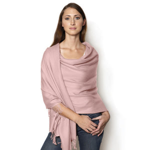 light pink pashmina shawl
