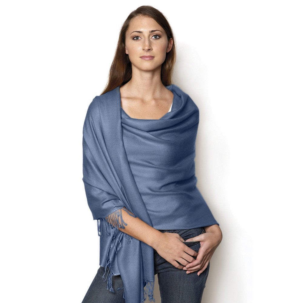french blue pashmina shawl