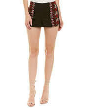 Load image into Gallery viewer, black floral embroidered shorts
