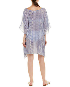 blue aztec swim coverup