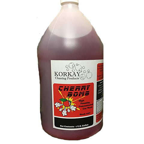 Korkay® Cherry Bomb Car Wash Concentrate - 1 Gallon Bottle