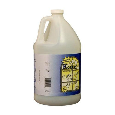 Korkay® Glass & Hard Surface Cleaner - 1 Gallon Bottle