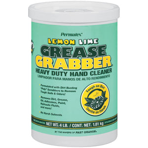 Permatex® Grease Grabber® Heavy Duty Hand Cleaner - Lemon Lime - 4 lb. - 1 Tub