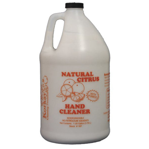 Korkay® Citrus Hand Cleaner With Pumice - 1 Gallon Bottle