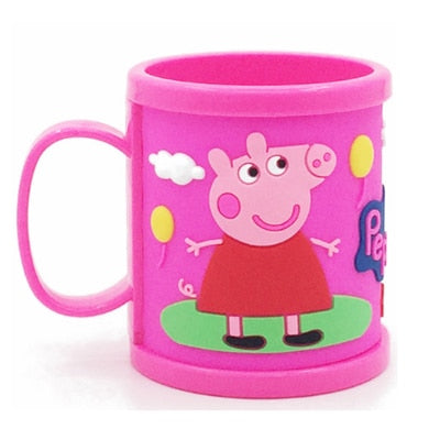 Children cartoon cute tooth brush cup children learn drink cup animation cartoon cup with handle baby drop cup
