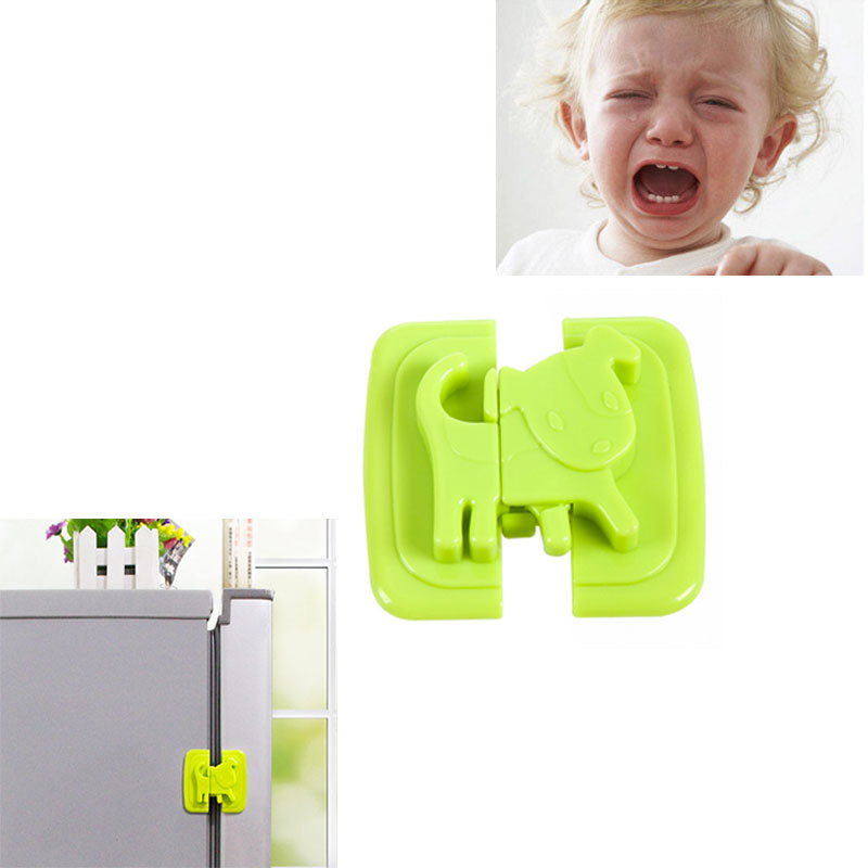 1Pcs Cartoon Puppy Shape Safety Locks for Refrigerators Door Baby Protection From Children Lock Castle Security Blocker Padlock