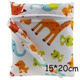 1Pc Baby Cloth Diaper Wet Dry Bag Pouch For Nursing Pads Menstrual Pads Stroller Mini Tote Waterproof Reusable Cloth Diaper Bag