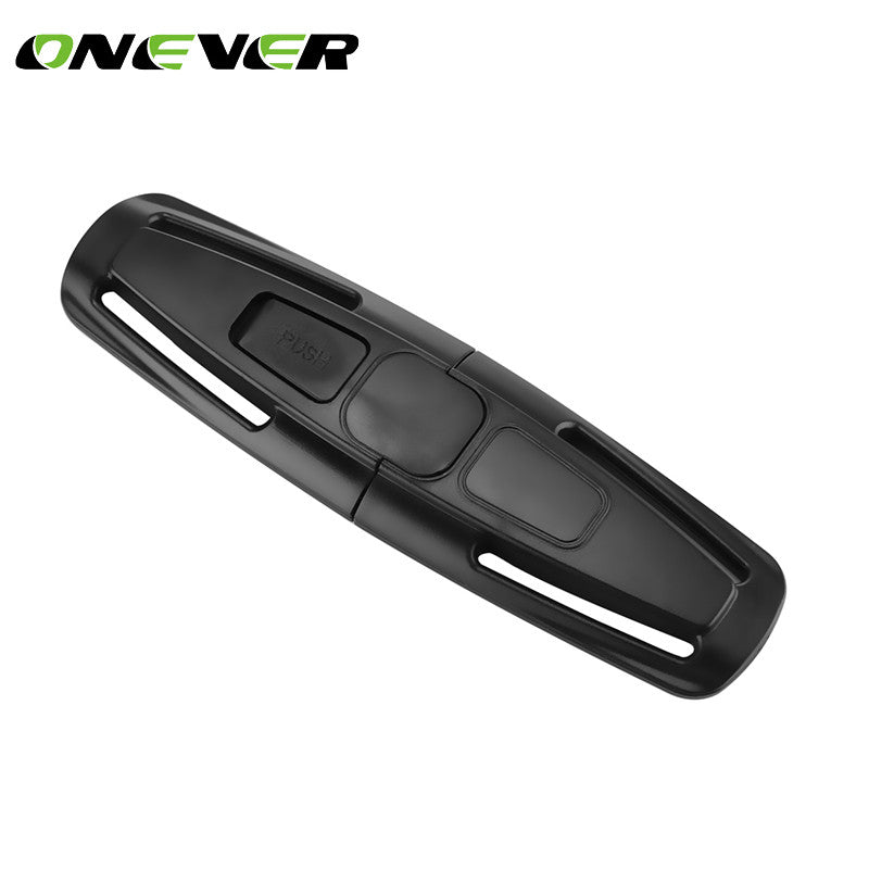Onever Car-Styling 1Pc Baby Safety Car Seat Strap Seat Belt Cover Child Toddler Chest Harness Clip Safe Buckle Black