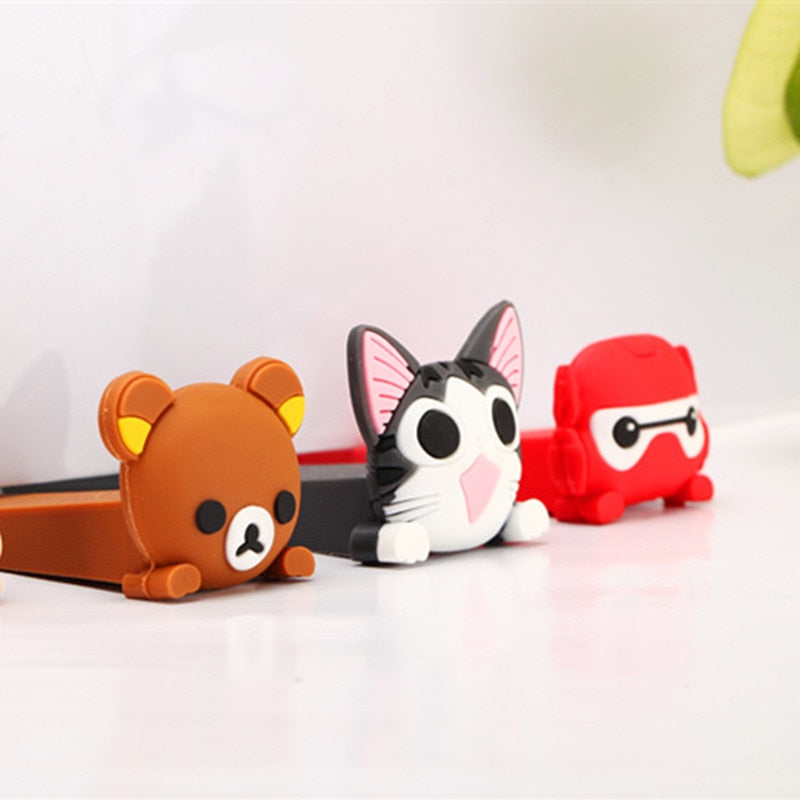 2pc/lot Baby Satefy Door Stopper Cartoon Animal Children Kids Silicone Holder Lock Safety Finger Protection