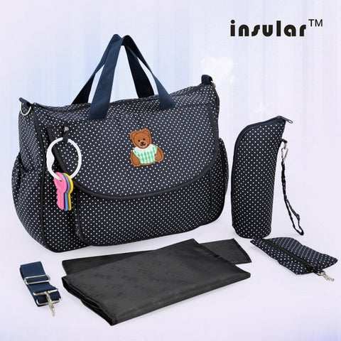 Insular Baby Diaper Bag Fashion Nappy Stroller Bag Designer Organizer Pouch Cut Maternity Mommy Bag New Mother Tote Nursing Bags