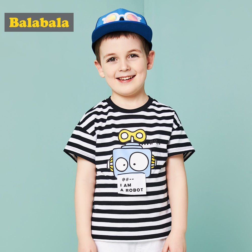 Balabala 2018 summer Children's tshirt boy Clothing Children tshirt enfant casual T-shirt toddler fashion half Sleeve T-shirt