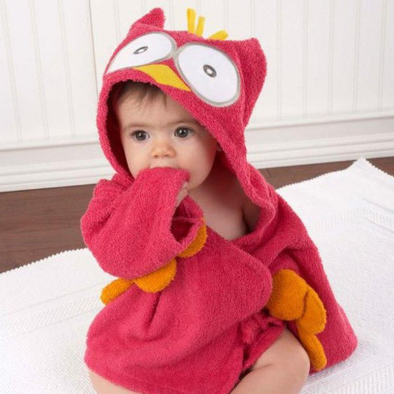 New  Baby Boy Girl Cartoon Animal Shape Robe Bathrobe Winter Warm Children's Cartoon Bathrobe Cloak