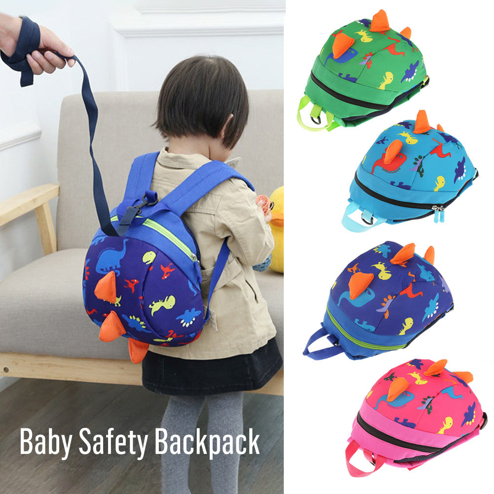 Cute Cartoon Dinosaur Baby Safety Harness Backpack Toddler Anti-lost Bag Children Schoolbag