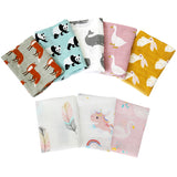 Muslin Cotton Baby Security Blankets 60x60cm Super Soft Newborn Baby Bib Burp Cloth Double Layer Gauze Bath Towel Baby Scarf