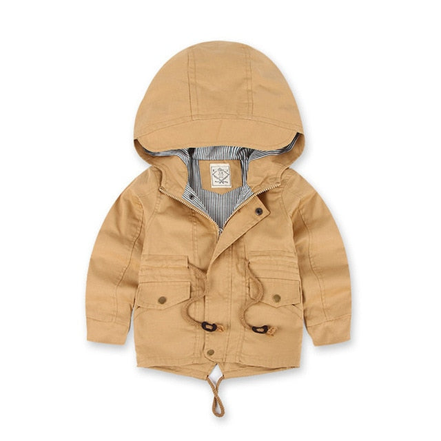 Benemaker Children Winter Outdoor Fleece Jackets For Boys Clothing Hooded Warm Outerwear Windbreaker Baby Kids Thin Coats YJ023