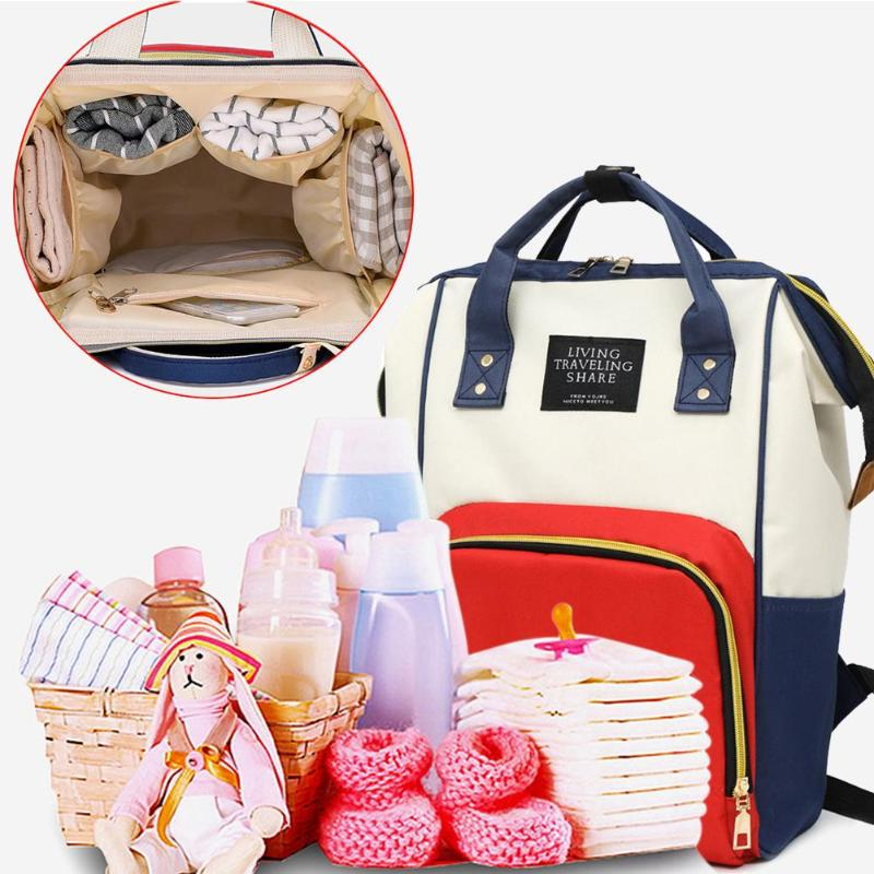 New Large Capacity Mummy Maternity Nappy  Bag Diaper Baby Bag Multifunctional Desinger Nursing Bag Travel Backpack Baby Care