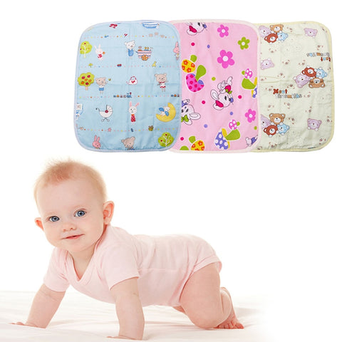 Waterproof Changing Diaper Pad Cotton Washable Baby Infant Urine Mat Nappy Bed #H055#